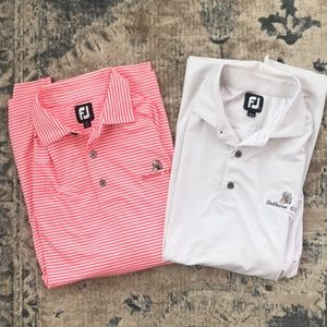 Foot joy golf polos lot of 2 large striped